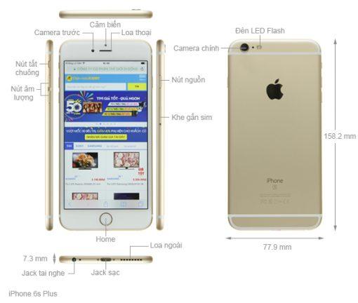 iphone 6s plus 64gb mo ta chuc nang