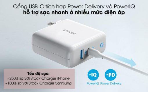 adapter 2 cong 60w anker powerport atom iii a2322 294320 014335
