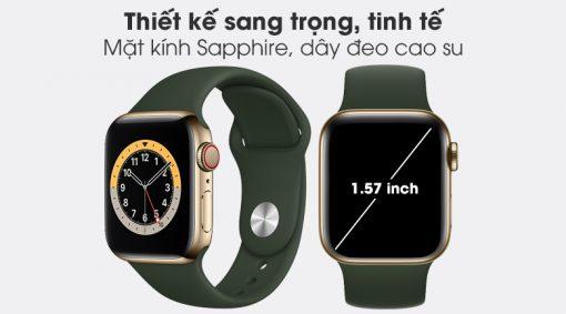 apple watch s6 lte 40mm vien thep day cao su fixx 1