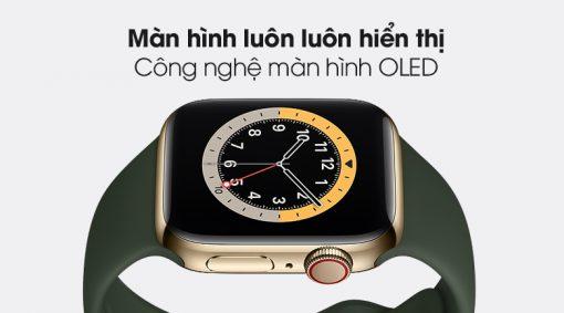 apple watch s6 lte 40mm vien thep day cao su writee 3